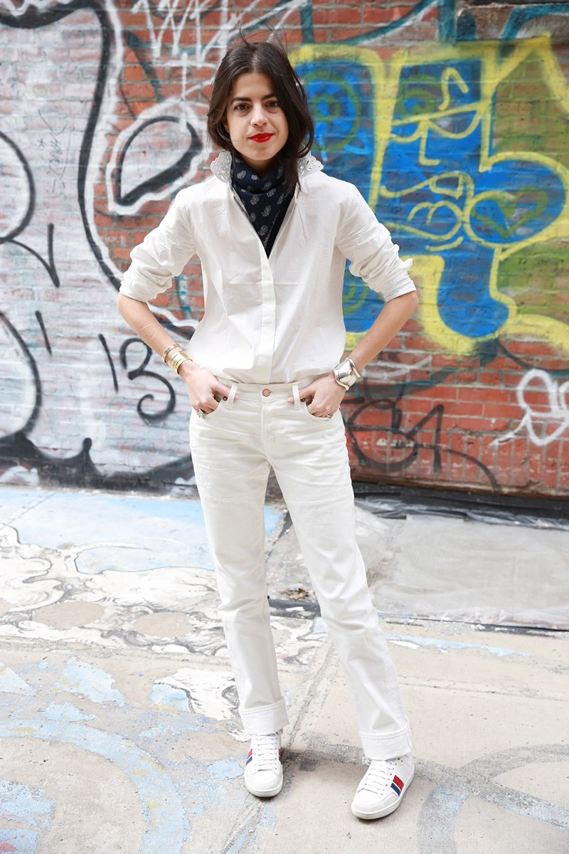 Man Repeller style - White Jeans Outfit Ideas