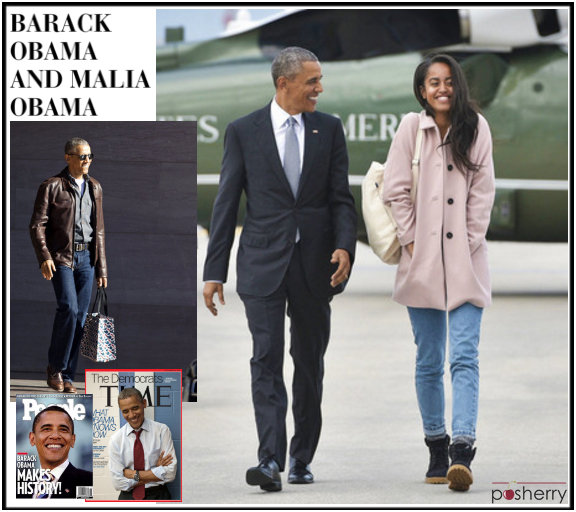 Famous Duos: Barack Obama and Malia Obama