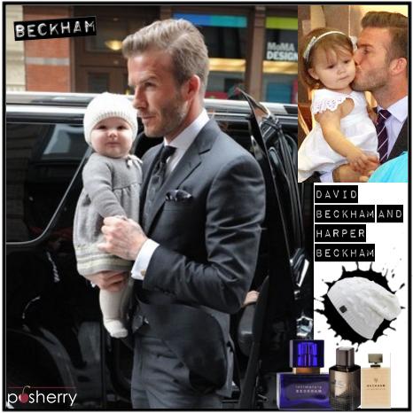 Famous Duos: David Beckham and Harper Beckham