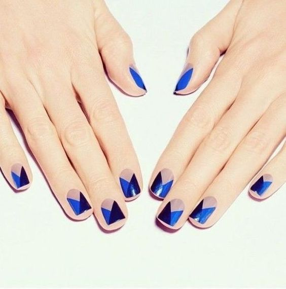Summer Nail Colors Trend-Little Lilac Triangles