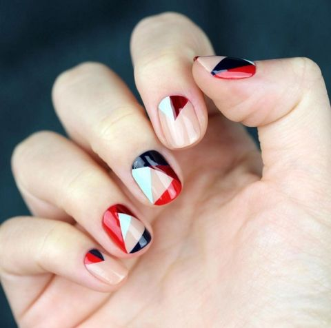 Summer Nail Color Trend From Runway-Color Blocking