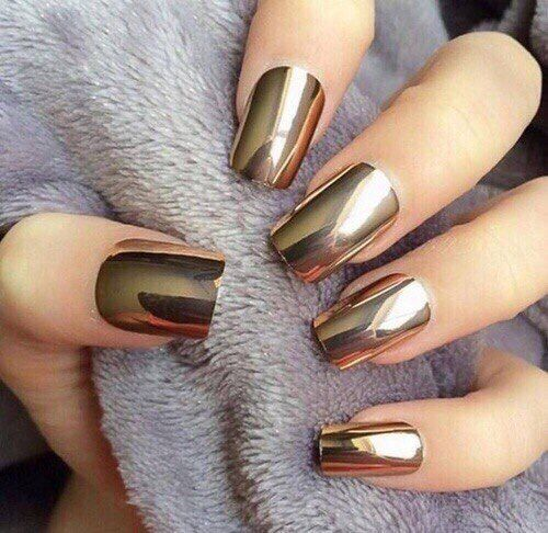 Summer Nail Colors Trend From Runway-Metallic