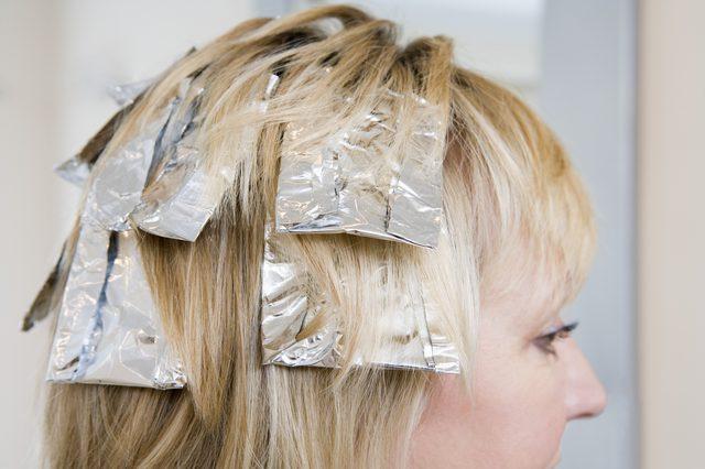 Hair tips - Foil highlights