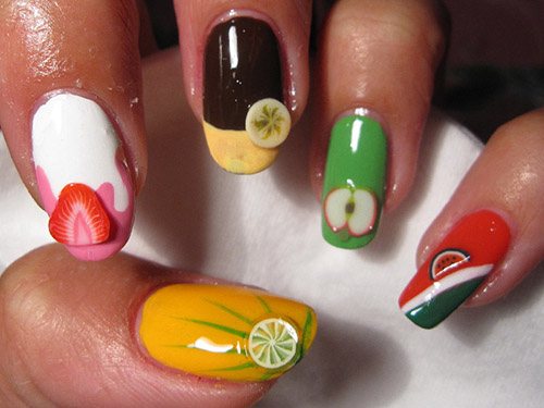 Summer Nail Colors Trend-Fruits