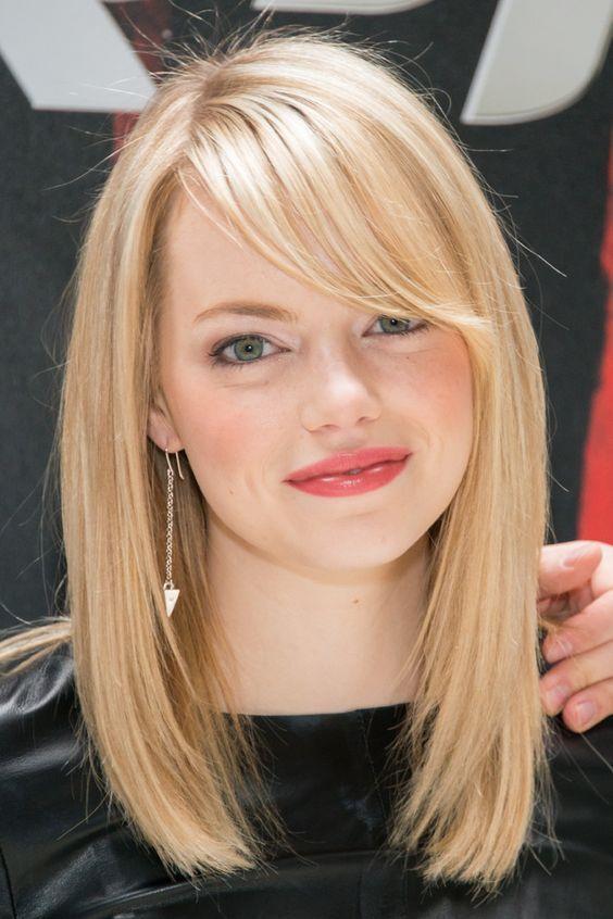 Hair tips for a round face - Medium Hair
