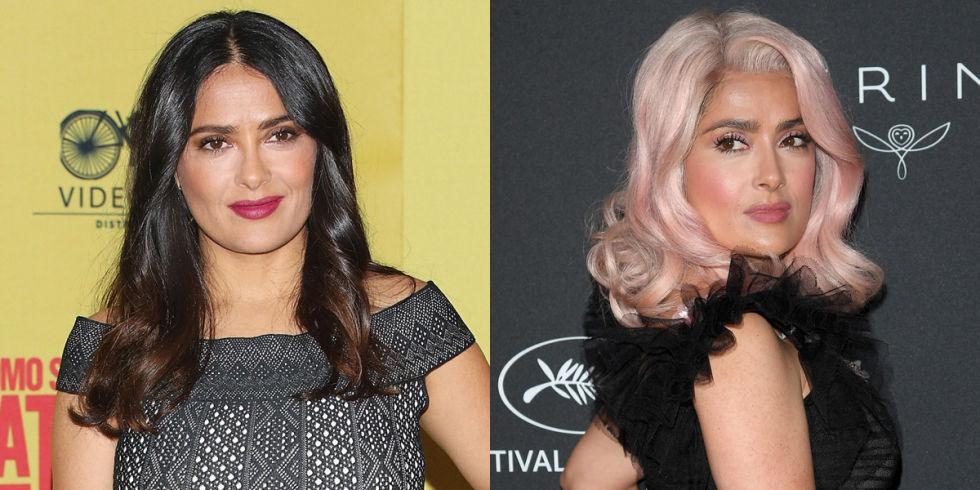 Hair tips- Celebrity hair transformation of Salma Hayek