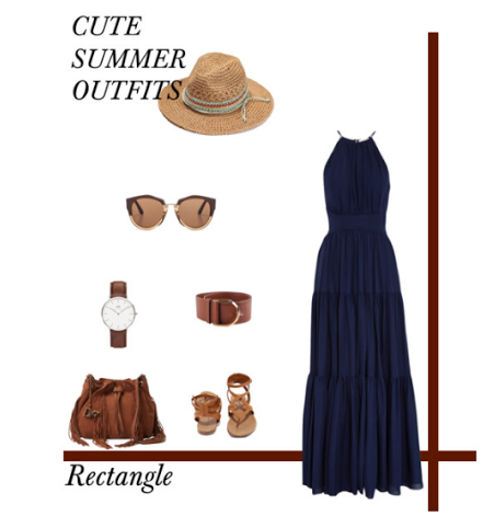Cute Summer Outfits- Rectangle Body Type